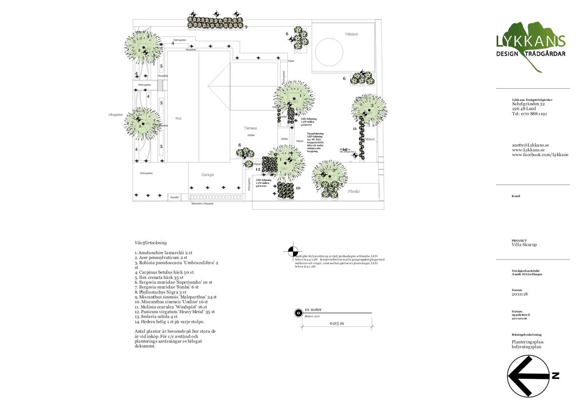 planteringsplan/belysningsplan